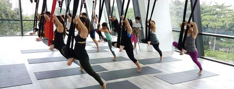 7 aerial yoga studios in Singapore to sweep you off your feet