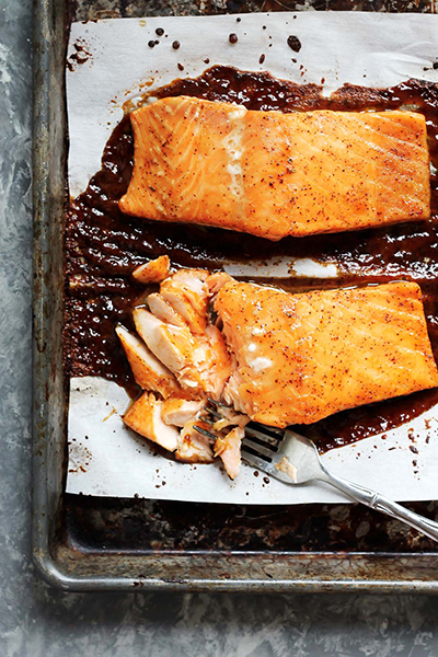 one pot recipe for two Spicy Maple Glazed Salmon